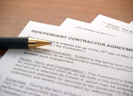 Independent contractor ABC test.